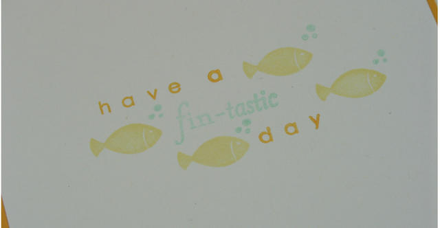 Birthday Fishes Card Inside